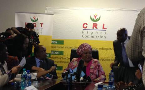 FILE: CRL Chair Thoko Mkhwanazi-Xaluva is briefing media on outcome of today's proceedings. Picture: Masego Rahlaga/EWN.