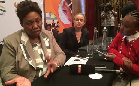 Basic Education Minister Angie Motshekga. Picture: Vumani Mkhize/EWN.