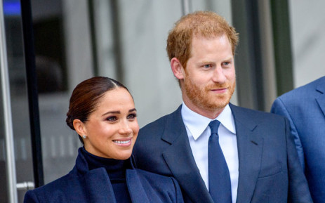 Meghan, Duchess of Sussex and Prince Harry, Duke of Sussex visit One World Observatory at One World Observatory on 23 September 2021 in New York City. Picture: Roy Rochlin/AFP