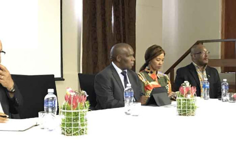 Minister of Agriculture, Forestry, and Fisheries Senzeni Zokwana on 13 March 2019 met with emerging farmers in Stellenbosch, Western Cape. Picture: Kevin Brandt/EWN