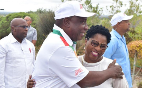 President Cyril Ramaphosa and Minister of Public Service and Administration Ayanda Dlodlo at the Presidential Golf Challenge on 8 February 2019 at the Atlantic Beach Golf Estate, Melkbosstrand. Picture: @PresidencyZA/Twitter