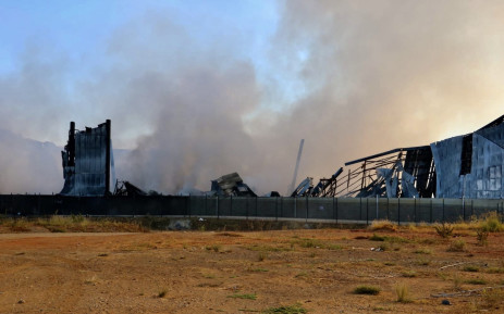 The UPL chemical plant in Durban is still smouldering days after it was torched in the riots and looting that hit the area in July. Picture: @DA_KZN/Twitter