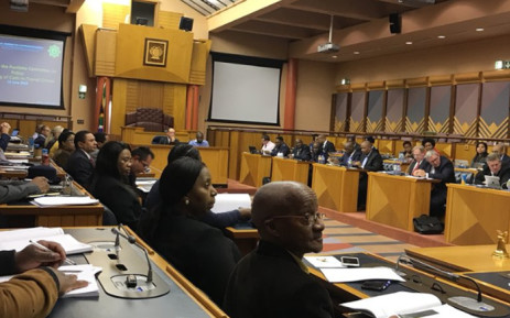 Parliament's police portfolio committee and other stakeholders linked to the cash handling industry meet on Wednesday 13 June 2018 to discuss ways to combat the increasing cash-in-transit heists in SA. Picture: Shamiela Fisher/EWN