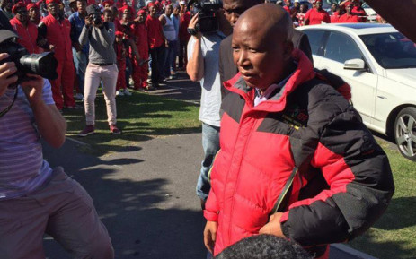 EFF leader Julius Malema in Gugulethu. Picture: Natalie Malgas/EWN.