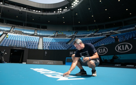 Preparations for the Australian Open Grand Slam Tournament, which commences in six days. Picture: @AustralianOpen/Twitter