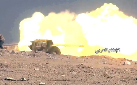 A screengrab of the Syrian army's battle against Islamic State. Picture: CNN