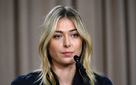 Tennis player Maria Sharapova addresses the media regarding a failed drug test at the Australian Open at The LA Hotel Downtown on 7 March, 2016 in Los Angeles, California. Picture: AFP.