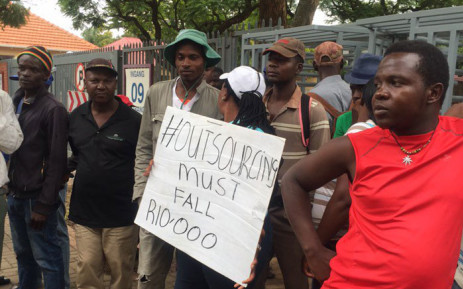 FILE. Tuks has closed and may only reopen on Wednesday, as protesting students call for an end to outsourcing. Picture: Masa Kekana/EWN.
