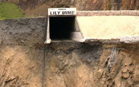 FILE: Sink hole at the Lily Mine in Barberton. Picture: Vantage Goldfield