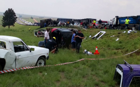 The scene of a truck crash on the N4 highway in Mpumalanga. Picture: Supplied.