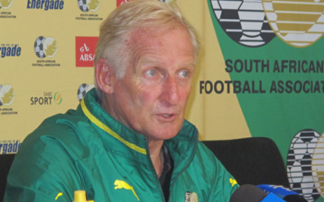 Bafana Bafana coach Gordon Igesund. Picture: Alicia Pillay/EWN.