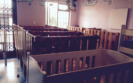 Cots at the Fikelela Children's Centre, where up to 40 children can be cared for at any one time. Picture: Lauren Isaacs/EWN.