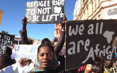 Asylum seekers mark World Refugee Day by marching to Parliament on 20 June 2012. Picture: Aletta Gardner/EWN