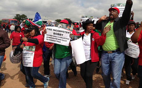 Sadtu members march in Marabastad on 24 April 2013. Picture: Lesego Ngobeni/EWN