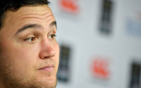 England's hooker Jamie George speaks during a press conference at Twickenham stadium in south-west London on 15 March 2019, on the eve of their Six Nations international rugby union match against Scotland. Picture: AFP