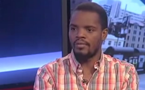 A screengrab of Wits SRC president Mcebo Dlamini from eNCA.