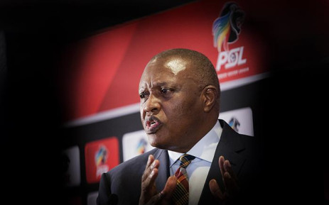 FILE: Chairman of the South African Premier Soccer League, Irvin Khoza speaking at the PSL Headquarters in Parktown, Johannesburg on 23 April 2018. Picture: Sethembiso Zulu/EWN