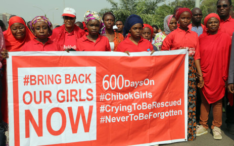FILE: Members of the 'Bring Back Our Girls' movement march to press for the release of the missing schoolgirls kidnapped in 2014 from their school in Chibok by Islamist group Boko Haram, during a rally in Abuja in January 2016. Picture: AFP.