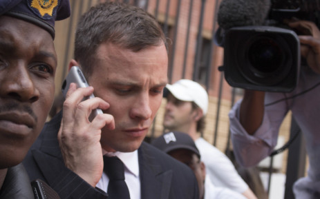 FILE: Oscar Pistorius leaves the North Gauteng High Court after the first day of sentencing arguments in his murder trial.  Picture: Christa Eybers/EWN