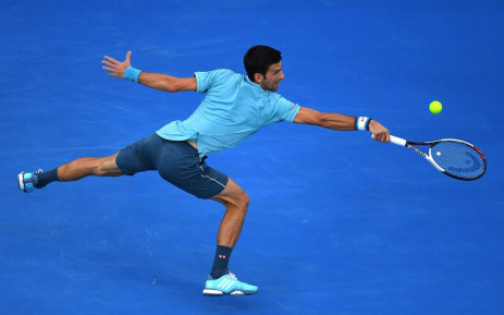 Novak Djokovic in action during his Australian Open match against hard-hitting Spaniard Fernando Verdasco. Picture: Twitter/@AustralianOpen.