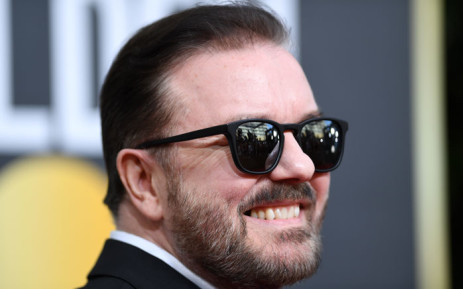 British host Ricky Gervais arrives for the 77th annual Golden Globe Awards on 5 January 2020, at The Beverly Hilton Hotel in Beverly Hills, California. Picture: AFP