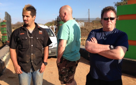 One of the owners of the Jugomaro Predator Park Justin Fernandes (left). Picture: Vumani Mkhize/EWN.