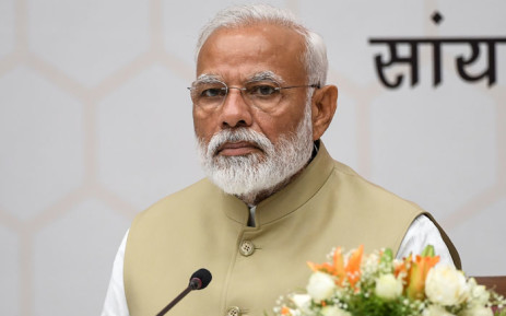 Bharatiya Janata Party (BJP) leader and Indian Prime Minister Narendra Modi attends a ceremony to thank the Union Council of Ministers for their contribution in India's general election at BJP headquarters in New Delhi on 21 May 2019. Picture: AFP