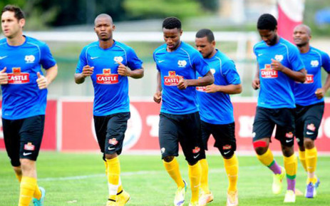 FILE: Bafana Bafana train ahead of their Afcon game qualifier against Nigeria, 18 November 2014. Picture: Twitter @BafanaBafana.