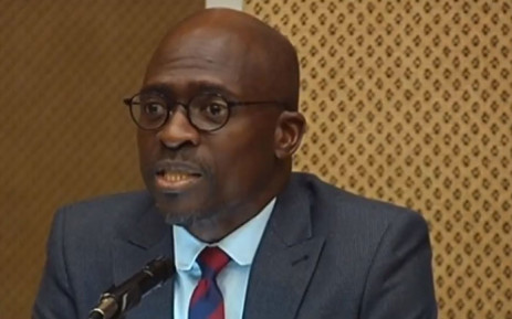 A screengrab of former Finance Minister Malusi Gigaba appearing before the Nugent Commission of Inquiry on 31 August 2018.