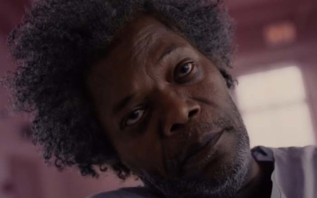 """A screengrab of  """"Mr Glass"""", portrayed by Samuel L. Jackson, in the film by M. Night Shyamalan. Picture: YouTube."""