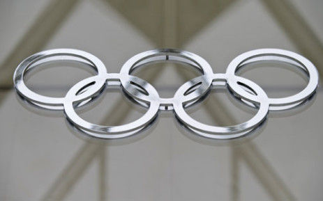 FILE: The Olympic logo in the building of the IOC headquarters in Lausanne on 8 May 2012. Picture: AFP