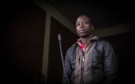 FILE: Murder co-accused Ernest Mabaso stands in the dock at the Lenasia Magistrates Court where the case was postponed on 20 November 2018. Picture: Thomas Holder/EWN