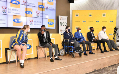 Some of the top performers on 22 February 2021 at the announcement of the 2020 matric results. Picture: GCIS.