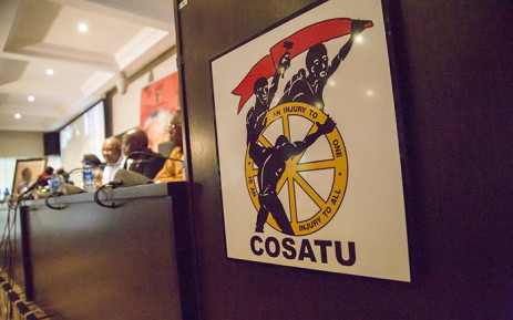 FILE: Cosatu's top brass addresses the media at Cosatu House in Braamfontein. Picture: EWN.