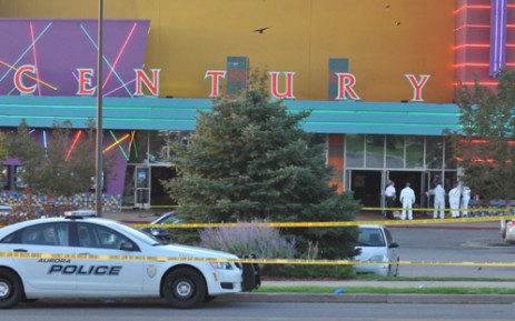 The movie theatre where a gunmen opened fire at the new Batman movie. Picture: AFP