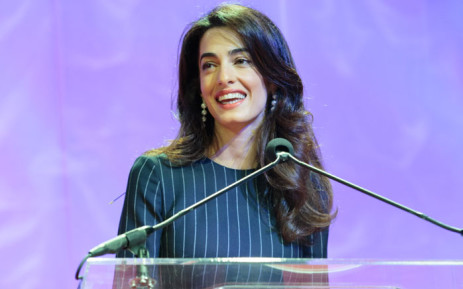 Human rights lawyer Amal Clooney. Picture: AFP.