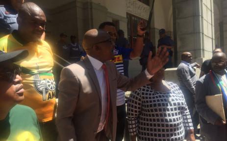 ANC WC acting chair Khaya Magaxa addressing the crowd. Picture: Xolani Koyana/EWN.