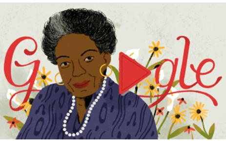 A screengrab of the Google doodle honouring late poet Maya Angelou.