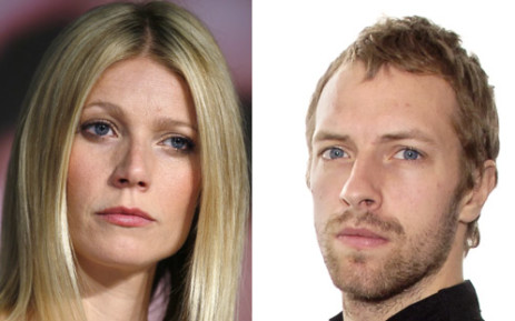 US actress Gwyneth Paltrow and Chris Martin. Picture: AFP.