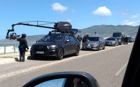 The Mercedes-Benz commercial shoot that kicked off the Twitter trolling. Picture: @AudiSouthAfrica/Twitter