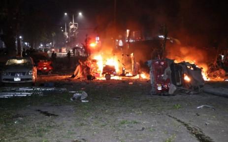 Auto bomb explosion outside hotel in Somalia