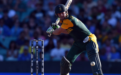 FILE: AB de Villiers plays a shot during the 2015 Cricket World Cup Pool B match at the Sydney Cricket Ground on 27 February, 2015. Picture: AFP.