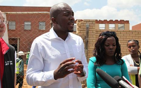 DA Premier Candidate Mmusi Maimane unveiled his election manifesto on 13 January. Picture: EWN.
