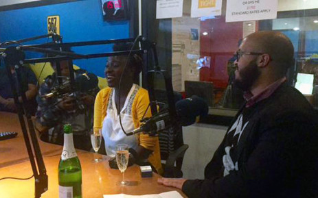 Kasuba Sikamo thought she & now-fiance, Timothy Stuurman, were visiting Cape Talk to discuss their business, Rockin Naturals. Picture: Cape Talk.