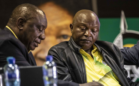 FILE: President Cyril Ramaphosa and Deputy President David Mabuza at an ANC NEC meeting in Irene on 1 April 2019. Picture: Abigail Javier/EWN