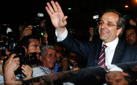 Leader of the New Democracy party, Antonis Samaras. Picture: AFP