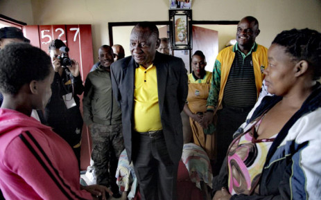 President Cyril Ramaphosa met with residents in the Northern Cape during an ANC campaign on 7 January 2019 ahead of its 108th birthday celebrations. Picture: @MYANC/Twitter