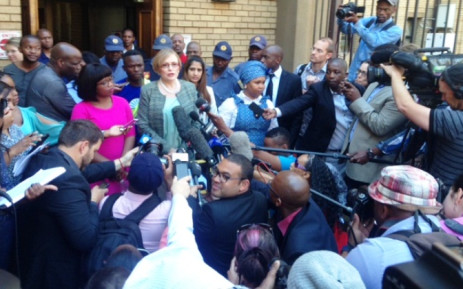 DA leader Helen Zille addresses the media outside the North Gauteng High Court on 4 September 2014. Picture:Vumani Mkhize/EWN.