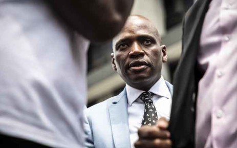 Former SABC COO Hlaudi Motsoeneng at Johannesburg High Court to oppose SABC's decision to withhold his pension fund. Picture: Abigail Javier/EWN.