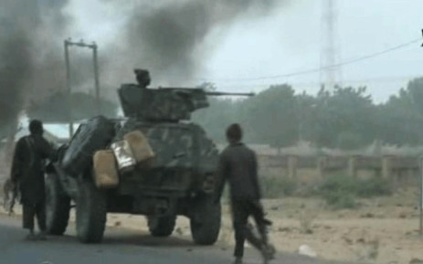 FILE: This screengrab image taken on 2 January 2018 from a video released on 2 January 2018 by Islamist group Boko Haram shows Boko Haram fighters during a Christmas Day attack on a military checkpoint in Molai village on the outskirts of the northeast Nigerian city of Maiduguri. Picture: AFP.